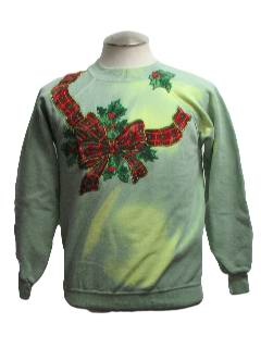 1980's Womens Color Changing Ugly Christmas Sweatshirt