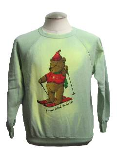 1980's Unisex Bear-Tastic Color Changing Ugly Christmas Sweatshirt