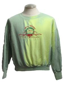 1980's Womens Color Changing Ugly Christmas Hawaiian Sweatshirt