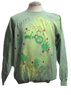 1980's Mens Color Changing Ugly Christmas Sweatshirt