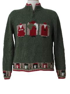 1990's Womens Mod Style Ugly Christmas Sweater