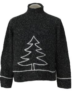 1980's Unisex Mod Minimalist Ugly Christmas Sweater