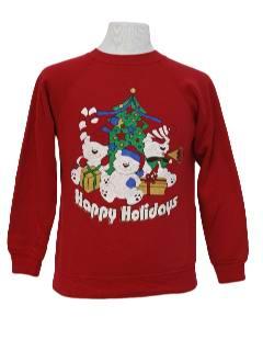 1980's Unisex Bear-tastic Ugly Christmas Sweatshirt