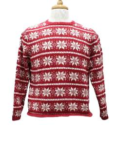 1980's Womens Traditional Ugly Christmas Ski Style Sweater