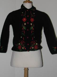 1980's Womens/Childs Tired and Ugly Discount Flawed Ugly Christmas Sweater