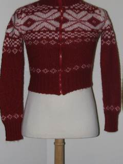 1980's Womens/Childs Discount Flawed Tired and Ugly Christmas Sweater