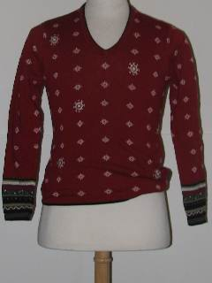 1980's Womens /Girls Discount Flawed Tired and Ugly Christmas Sweater