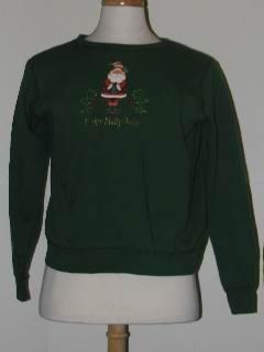 1980's Unisex Discount Flawed Tired and Ugly Christmas Sweatshirt
