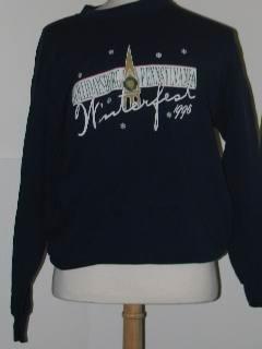 1990's Unisex Discount Flawed Tired and Ugly Christmas Sweatshirt