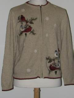 1980's Womens Discount Flawed Tired and Ugly Christmas Sweater