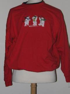 1980's Unisex Discount Flawed Tired and Ugly Christmas Sweatshirt