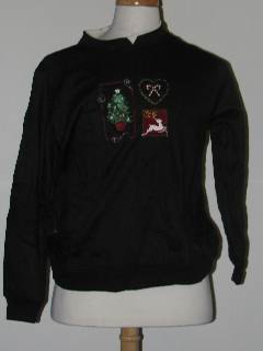 1980's Womens Discount Flawed Tired and Ugly Christmas Sweatshirt