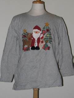 1990's Womens Discount Flawed Tired and Ugly Christmas Sweatshirt