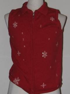 1980's Womens Discount Flawed Tired and Ugly Christmas Sweater Vest