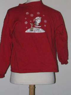 1990's Unisex Discount Flawed Tired and Ugly Christmas Sweatshirt