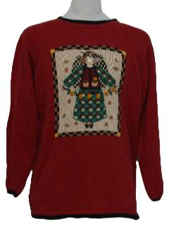 1980's Unisex Cheesy Ugly Christmas Sweater
