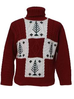 1980's Womens Mod Style Ugly Christmas Sweater