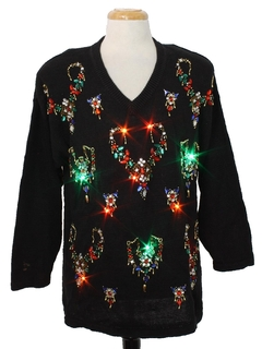 1980's Unisex Lightup Multicolored Ugly Christmas Sweater