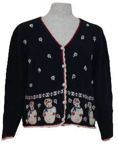 1980's Womens Ugly Cardigan Christmas Sweater