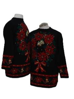 1980's Unisex Pair of Matching Ugly Christmas Sweaters