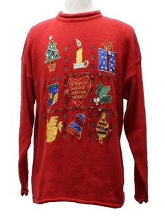 1980's Womens Cheesy Ugly Christmas Sweater