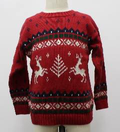 1980's Unisex/Childs Ugly Christmas Classic Reindeer Sweater
