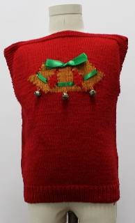1980's Unisex/Childs Ugly Christmas Sweater Vest