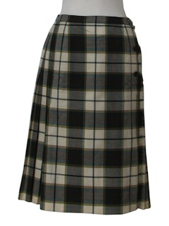 1980's Womens Wool Kilt Skirt