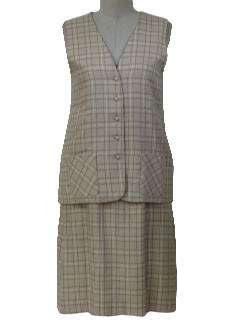 1970's Womens Skirt & Vest Suit