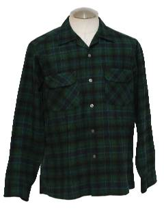 1950's Mens Pendleton Wool Shirt
