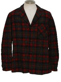 1960's Mens Pendleton Wool Shirt Jacket