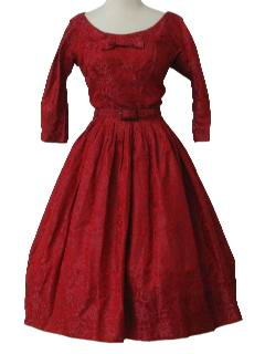 1950's Womens Designer Cocktail Dress