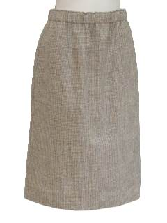 1970's Womens Wool Skirt