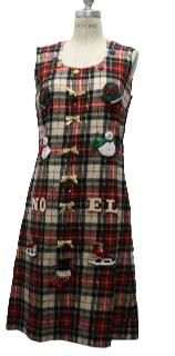 1970's Womens Ugly Christmas Dress