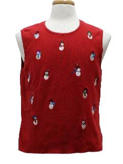 1980's Unisex Ugly Christmas Pullover Sweater Vest