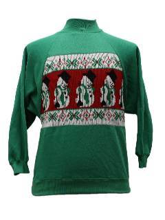 1980's Unisex Ugly Christmas Sweater Style Sweatshirt