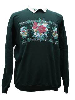 1980's Womens Ugly Christmas Sweatshirt