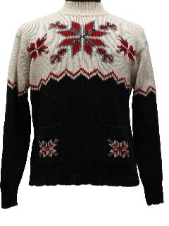 1980's Womens Ugly Christmas Ski Style Sweater