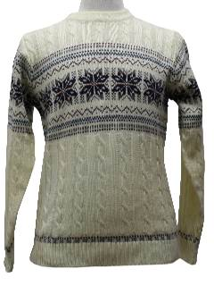 1980's Mens/Boys Snowflake Ski Sweater