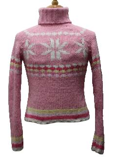 1990's Womens/Girls Christmas Ski Sweater