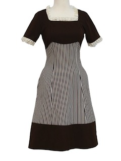 1970's Womens/Girls Knit Diner Dress