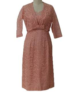 1950's Womens Wiggle Cocktail Dress