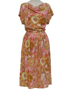 1950's Womens Nylon Day Dress