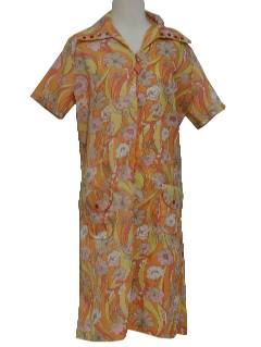 1970's Womens Mod A-Line Day Dress