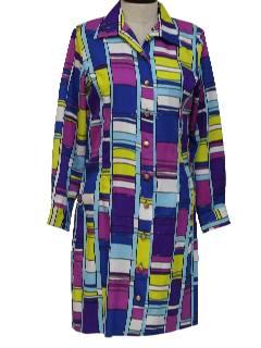 1970's Womens Mondrian Style Dress