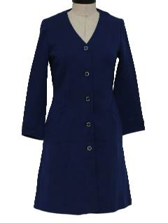 1960's Womens Wool Knit Dress