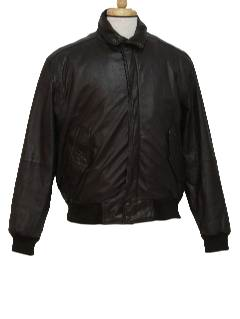 1980's Mens Totally 80s Leather Members Only Jacket