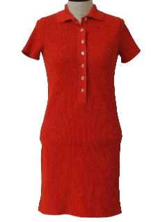 1970's Womens or Girls Mini Knit Dress