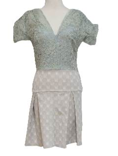 1960's Womens Unique Mini Cocktail Dress