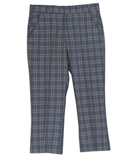 1970's Mens Plaid Golf Slacks Pants
